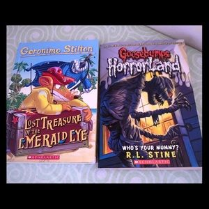Goosebumps Horrorland & Geronimo Stilton books